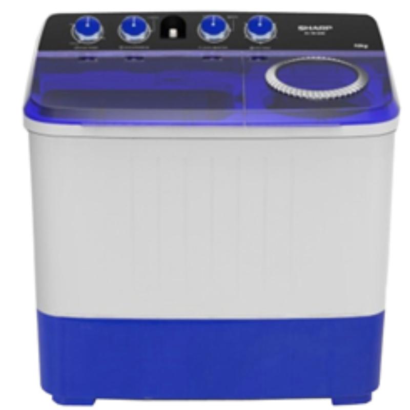 SHARP เครื่องซักผ้า 2 ถัง 8 KG. รุ่น ES-TW80BL