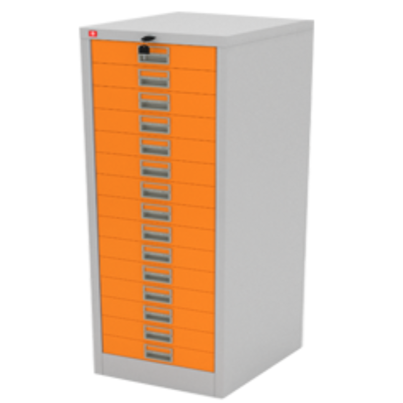 ตู้เก็บเอกสาร 15 ลิ้นชัก CDX-15-OR สีส้ม