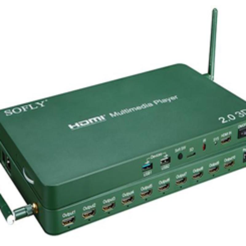 HDMI 2.0V 10-Ways Media Player Model HDMP10-V2.0