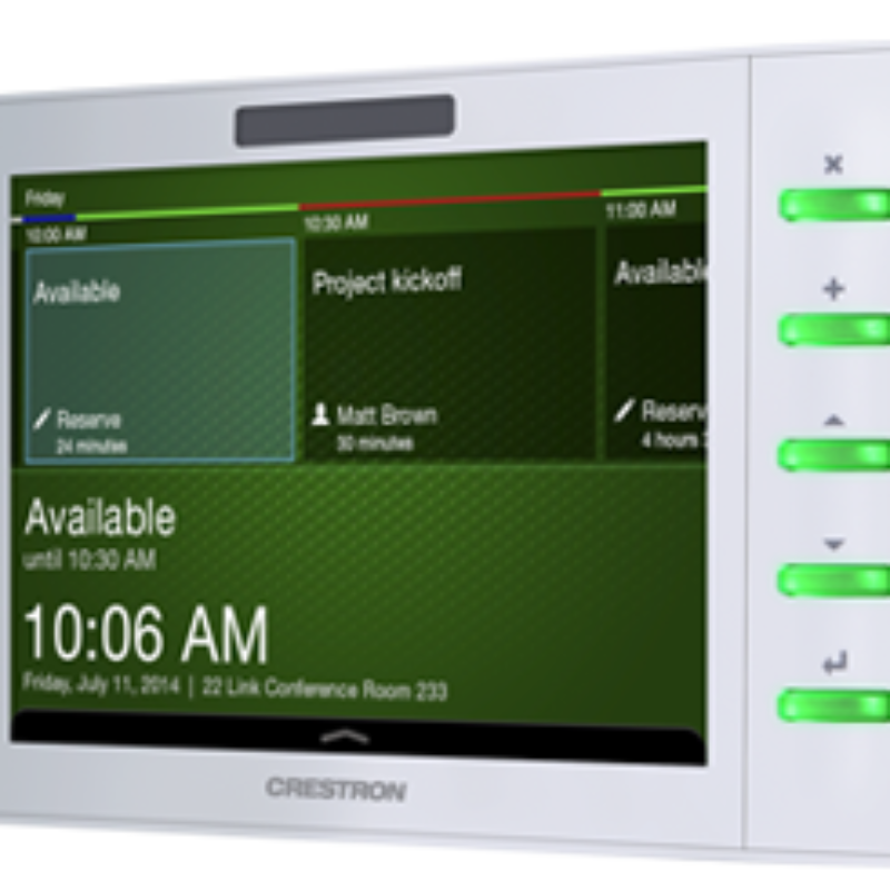 "Crestron 7"" Room Scheduling Touch Screen, Black Smooth Model TSW-732"